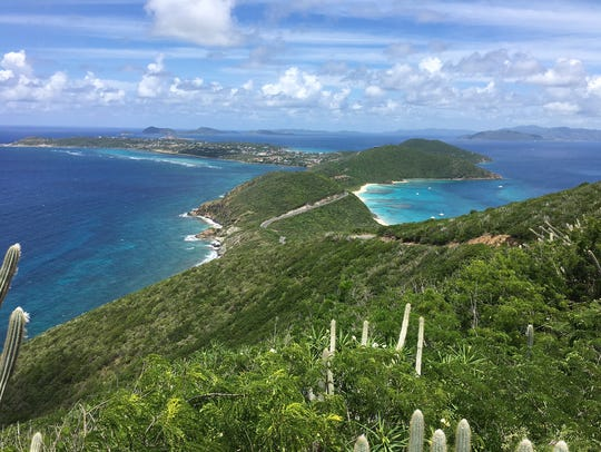Where the Atlantic meets the Caribbean on Virgin Gorda.