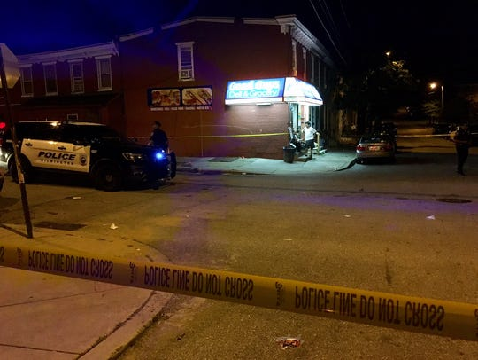 A 37-year-old man was shot multiple times Sunday night