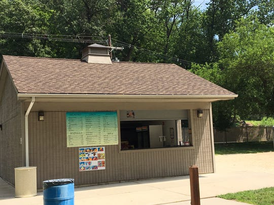 A cash register was stolen from a concession stand