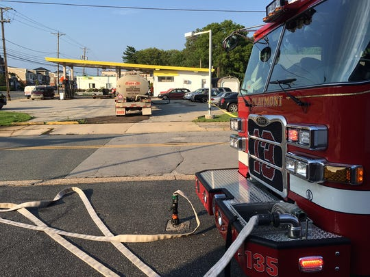 Fuel is spilled at Philadelphia Pike in Wiltshire Road
