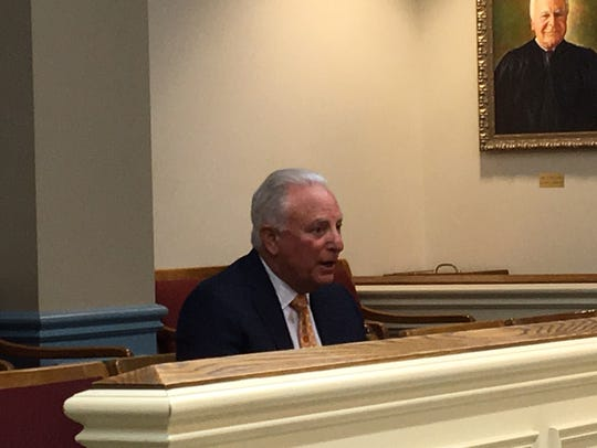 Morristown attorney William Laufer testifies at his
