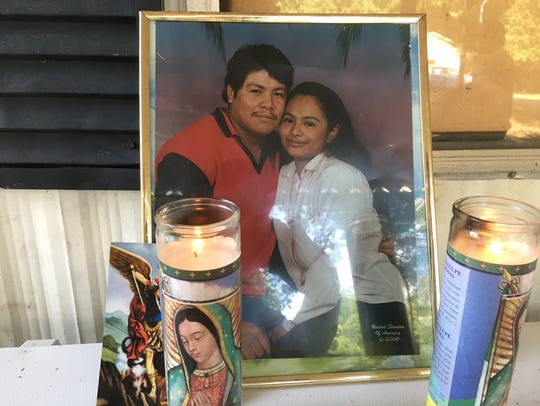 A photo of Ismael Lopez and his wife, Claudia Linares,