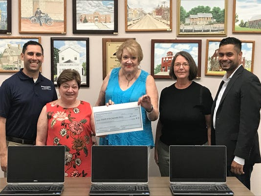 Library receives grant PHOTO CAPTION