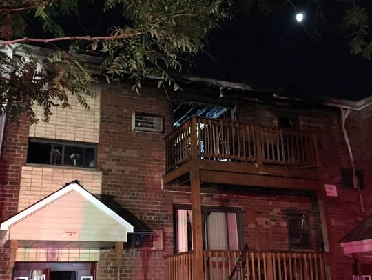 The charred apartment at 108 Union Road in Spring Valley.