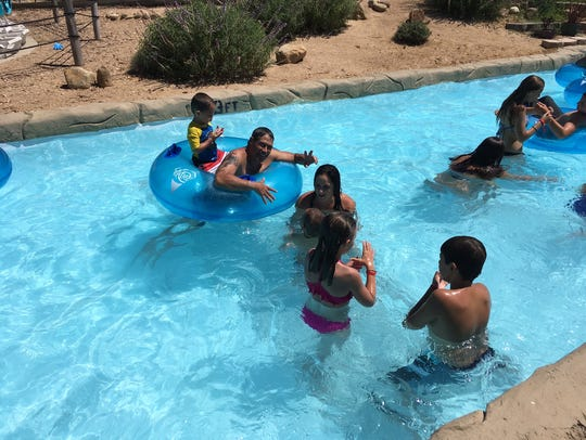Explore the Casitas Water Adventure's lazy river and
