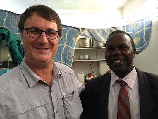Dr. Michael Gelinas and Dr. Stephen Osiemo, local Kenyan ophthalmologist.