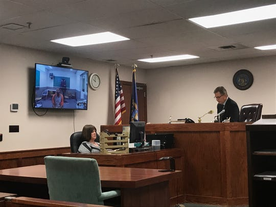 Magistrate David Wirth arraigns Daryl Marshall by video