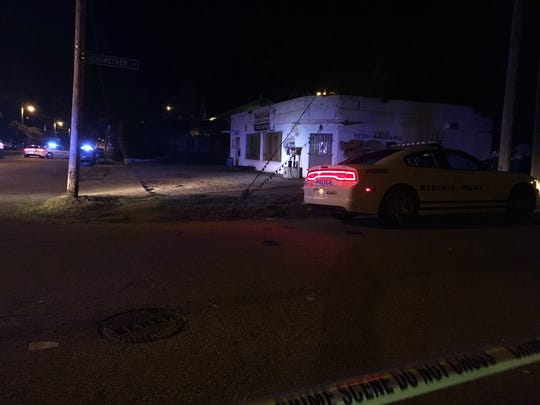 Memphis police investigate after four people were shot Monday night in the 200 block of Decatur.