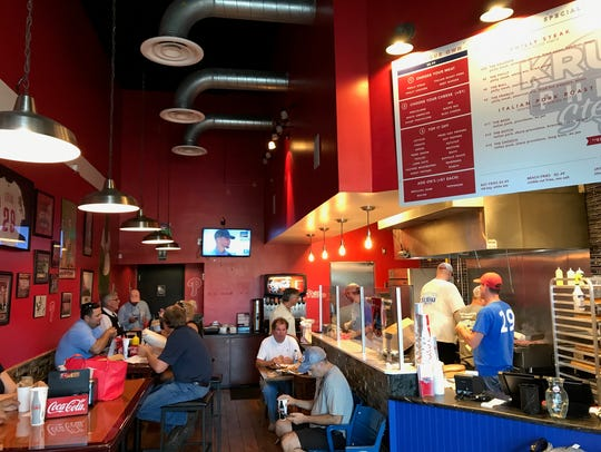 Interior of Kruk's Philly Steaks in North Naples, off