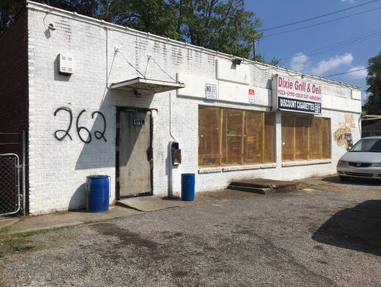 A view of the Dixie Grill and Deli in daytime. A shooting
