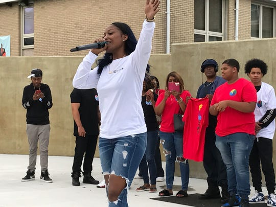 Poca performs at the Unity Concert Aug. 12 at Springwood Avenue Park in Asbury Park.