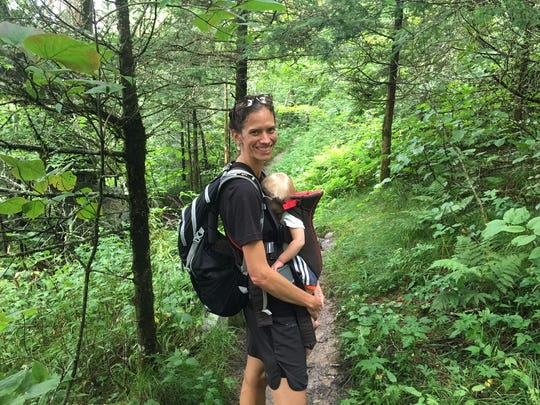Appalachian Trail speed-hike record setter and Asheville resident Jennifer Pharr Davis is walking the 1,175-mile Mountains-to-Sea Trail with her family.