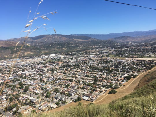 The view looking down into west Ventura, where the population is predominantly Latino.