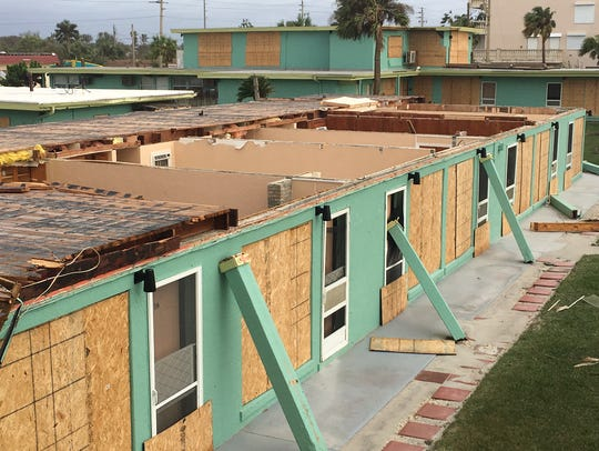 The Sea Aire Motel in Cocoa Beach lost its roof during