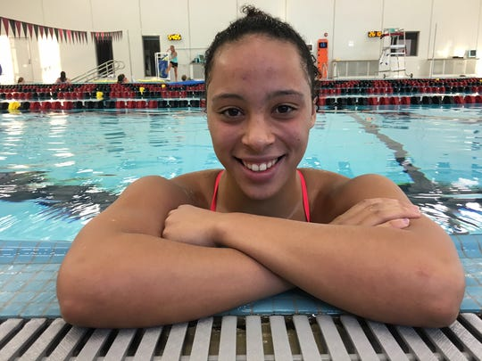 Ankeny sophomore Jasmine Rumley is currently ranked first in the state in the 50 freestyle and third in the 100 freestyle. She has helped the third-ranked Hawkettes to a 5-0 record.