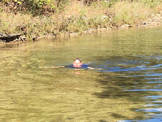 Even in early October, Long Creek was still warm enough