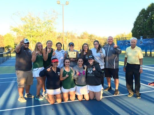 The Kinnelon girls tennis team won its first NJSIAA