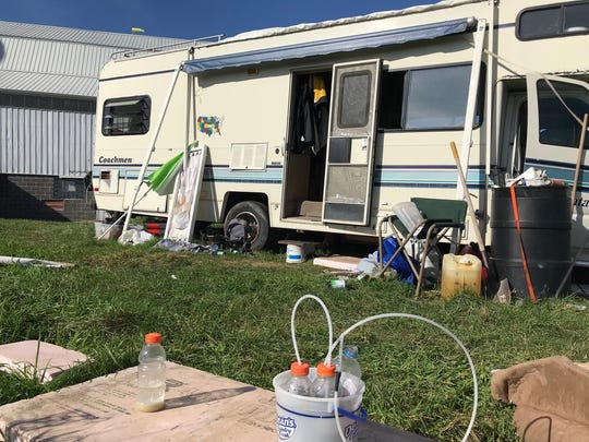 A 37-year-old Kiel man was arrested Friday after Manitowoc County Metro Drug Unit found a suspected methamphetamine lab inside this mobile home on Tompkins Road in rural St. Nazianz.