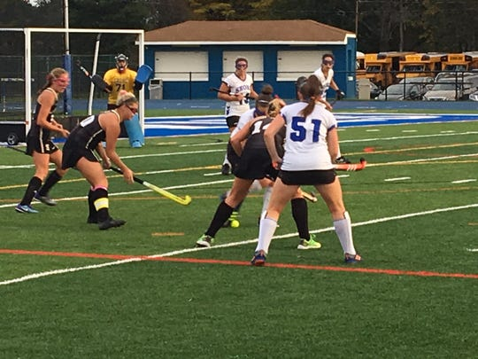 The Southern Regional field hockey team takes on Shore Regional in West Long Branch in an SCT semifinal on Oct. 25, 2017