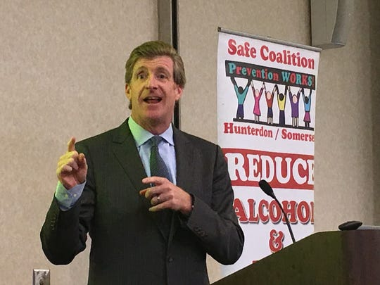 Former U.S. Rep. Patrick Kennedy speaks at a conference at Raritan Valley Community College.