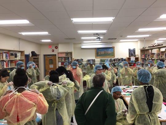 Bound Brook High School students and Bridge to Employment
