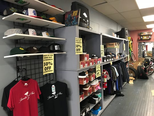Streets of Fire, a long-running skateboard shop, is going out of business after 16 years downtown.