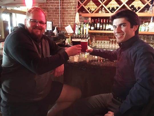 Knox Brew Tours owner Zack Roskop and KSO music director/conductor