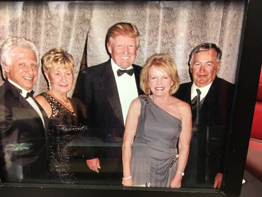 Giacomo Battaglia, left, helped open some of Donald Trump's properties in New Jersey.