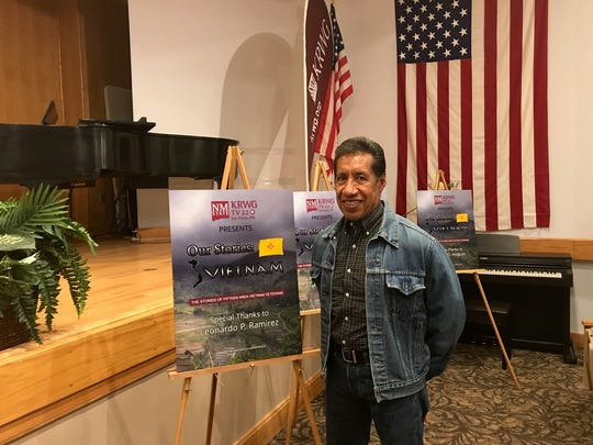 """Leonardo Ramirez was among the New Mexico Vietnam veterans interviewed for KRWG's """"Our Stories: Vietnam."""" On Wednesday, Nov. 8, he attended the Las Cruces premier of the three-part series, which will air at 7 p.m. Nov. 13–15 on KRWG-TV, channel 22."""