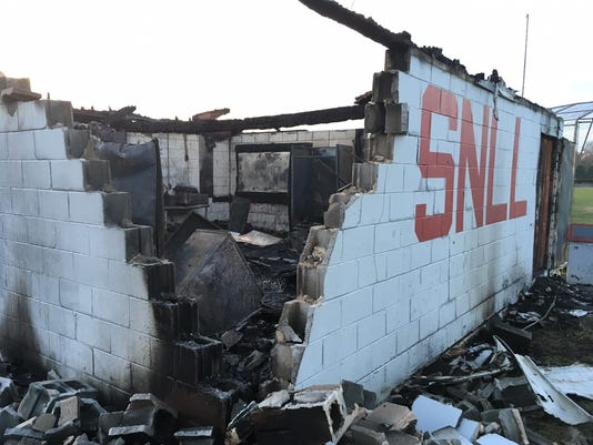 Concession stand fire