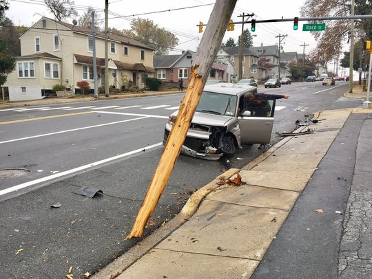 Tyrone Brooks' car slammed into another after he fled