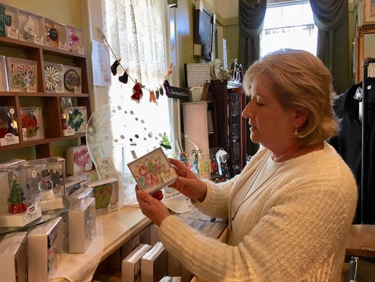 Linda Hilbert, who owns and operates Treasured Friends