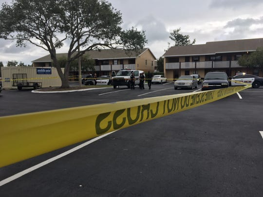 Melbourne police have cordoned off a portion of an apartment complex near Dairy Road on Palm Bay Road on Thursday as they investigate a shooting.