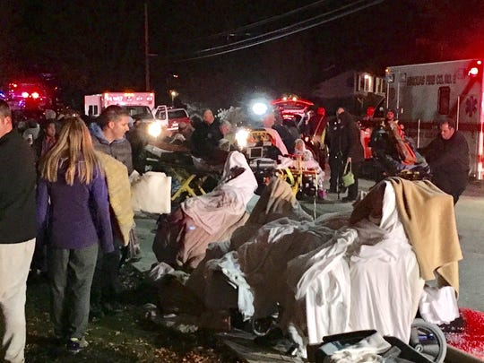 A massive fire at a senior living community in Pennsylvania injured at least 20 people and forced dozens more, many of whom were unable to walk, into the cold night air.