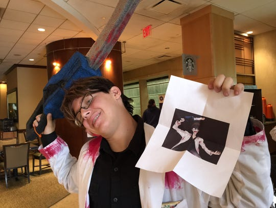 Ethan Smith of Manchester Township cosplays the demented
