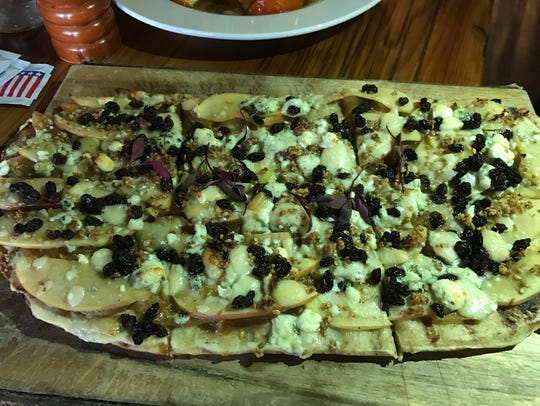 Seasonal flatbread at The Barrow House in Clifton