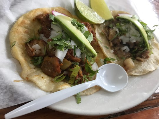 Fresh tacos at Taco Matamores in Clifton