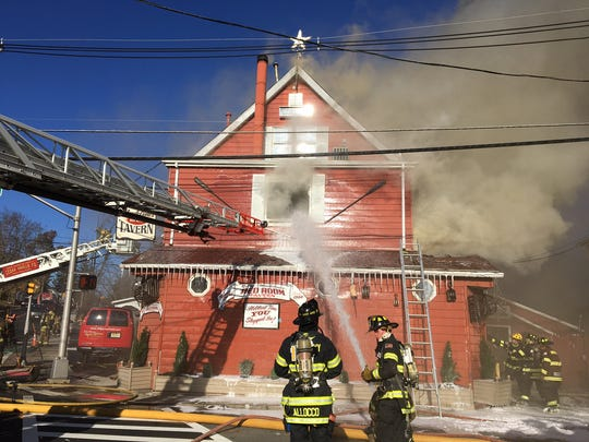 Fire destroyed Billy & Madeline's Red Room Tavern in Hanover Township on Nov. 28, 2017