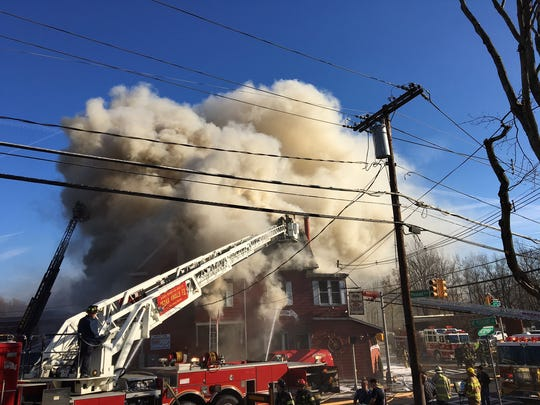 Firefighters battle Nov. 27, 2017 blaze that gutted