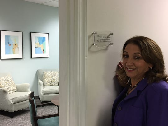 Montville resident Karen Arakelian, founder of the Gloria Foundation, a non-profit that assists victims of domestic violence, at the Morris Family Justice Center in Morristown.