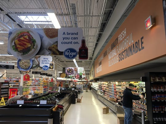 Kroger brands are prominently displayed at the Muncie