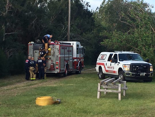 Brevard County Fire Rescue responded to a fire in the