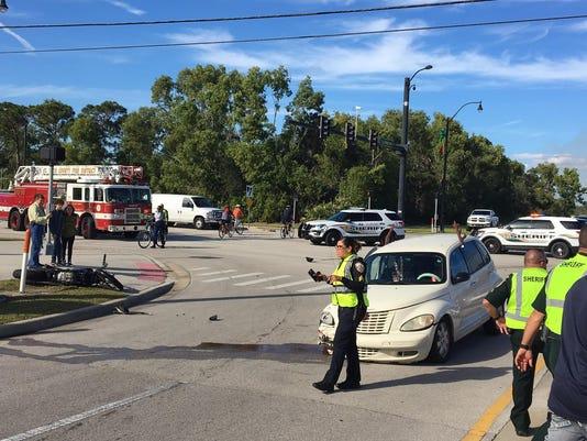 Thursday crash scene