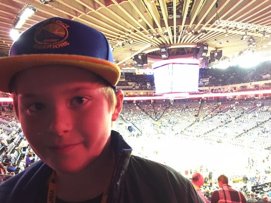 The view of Golden State's Oracle Arena from  the stands.