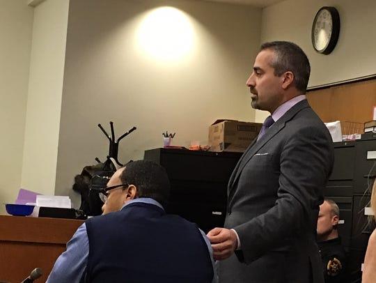 Attorney Joseph Mazraani (right) and his client, Adison