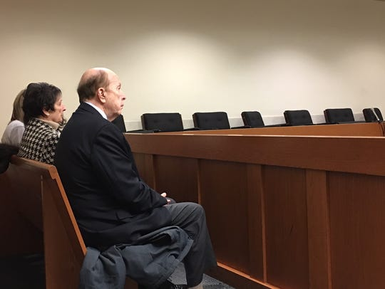 Members of the Mocci family in court Tuesday.