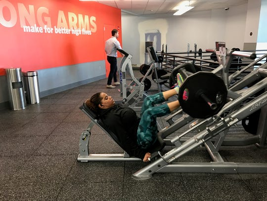 Marinelly Moran of Passaic did some heavy lifting at