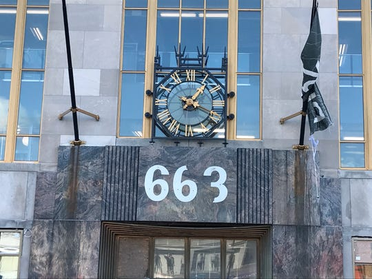 The clock at 663 Main Avenue started working again