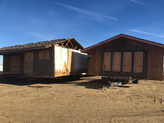 House mover Gary DeJohn moved a house from one private