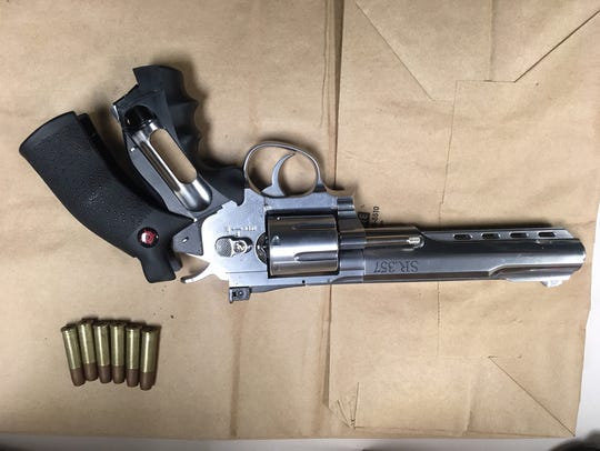 Police said the handgun pictured was used in an armed